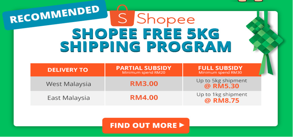 Image result for shopee 5kg free shipping program