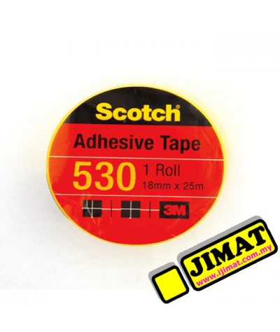3M Scotch 530 Adhesive Tape - 18mm x 25m (Small)