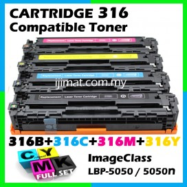 Canon 316 / Cartridge 316 High Quality Colour Laser Toner Cartridge (1 Set 4 Unit) For Canon LBP-5050 / LBP-5050N Printer