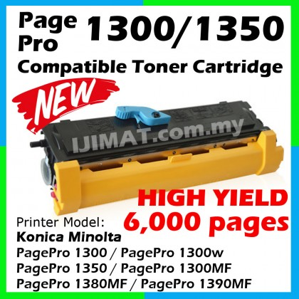 Konica Minolta 1300 / 1300w Compatible laser Toner Cartridge High Yield 6000 pages Compatible Toner For Konica Minolta PagePro 1300 / 1350 / 1300MF / 1380MF / 1390MF / 1300w / 1350w Printer Ink