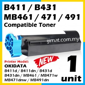 OKI B411 / B411d / B411dn / B431 / B431d / B431dn / MB 461 / MB 471 / MB 471dnw / MB 471w / MB 491 / MB 491dn Compatible High Quality Compatible Toner