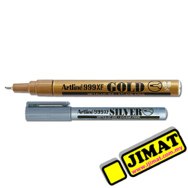 Artline 999XF Marker Metalic Ink 0.8mm (2 Colour Options)