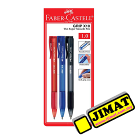 FABER-CASTELL Grip X10 Ball Pen (1.0mm)
