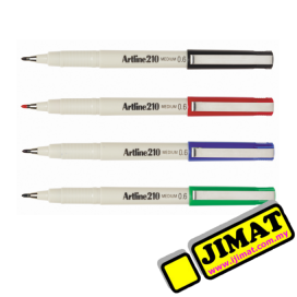 Artline 210 Sign Pen 0.6mm (4 Colour Options)