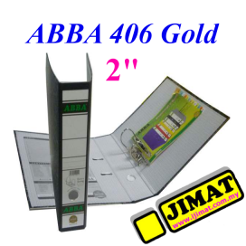 ABBA Arch File 406 Gold 2""