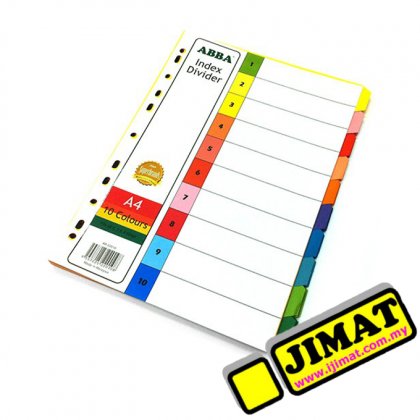 ABBA Index Divider 10 Colours