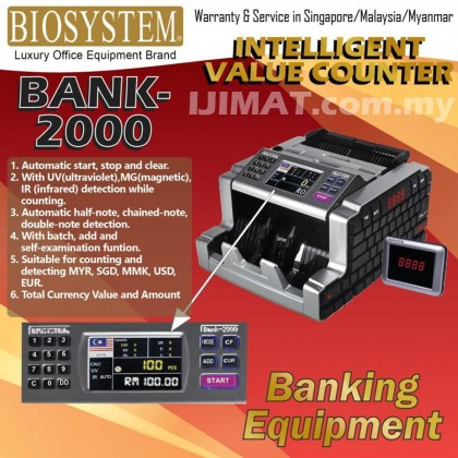 Biosystem Bank 2000 Bank-2000 Intelligent Notes Counter