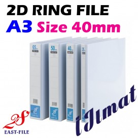 EAST-FILE 2D PVC Ring File A3 (40mm)