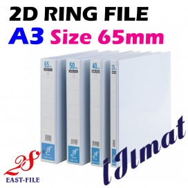 EAST-FILE 2D PVC Ring File A3 (65mm)