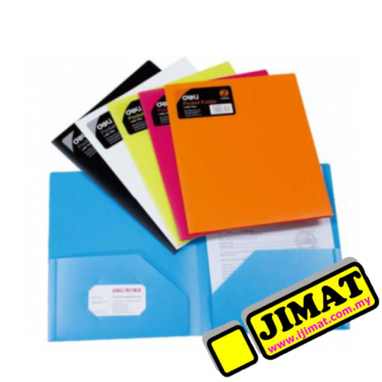 Deli W38120 / 38120 Pocket Folder A4 Size (2 Pockets) RANDOM COLOUR