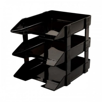 Lucky Star 3 Tier Document Tray / In Out Tray / Dulang Dokumen 3 Peringkat / / IN OUT TRAY 3 LAYERS / PLASTIC TRAY 3 LAYER / A4 TRAY 3 TIER