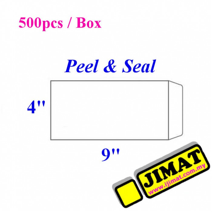 white envelope 4 x 9 500pcs box