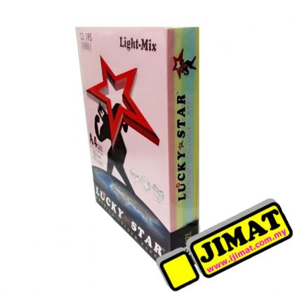 LUCKY STAR CS195 A4 Colour Paper 80gsm CS 195 (Light-Mix) (450's/pack)