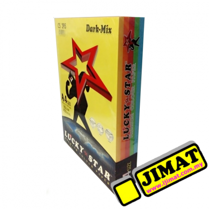 LUCKY STAR A4 Colour Paper 80gsm CS 295 (Dark-Mix) (450's/pack)