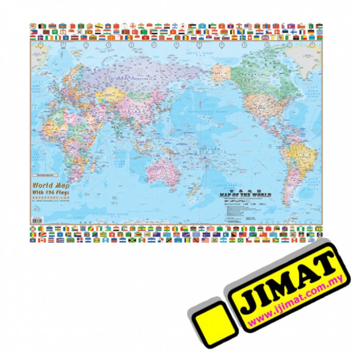 World map flags w118 laminated 28 x 40 gumiabroncs Choice Image
