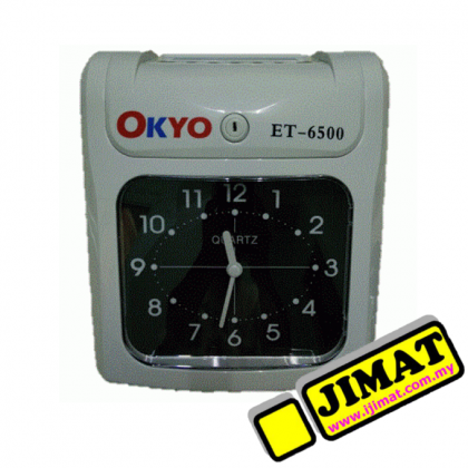 OKYO ET-6500 ET6500 Time Recorder / Punch Card Machine (Analog Display)