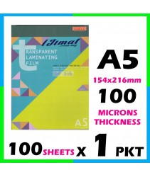 East-File Laminating Film A5 Size / Sarung Laminate A5 Size (154mm x 216mm) 100mic