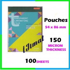 East-File Laminating Film Pouch IC / Sarung Laminate (54mm x 86mm) 150mic
