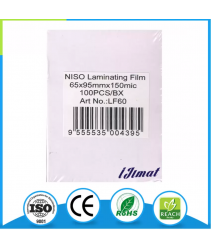 Niso Laminating Film Pouch ID / Sarung Laminate (65mm x 95mm) 150mic