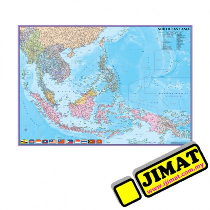 """Map of South East Asia S202M (Magnetic) (28"""" x 40"""")"""