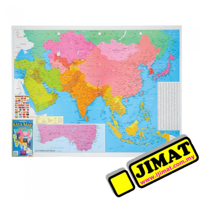 Asia map a175m magnetic 28 x 40 gumiabroncs Choice Image