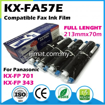 4Rolls Panasonic 57E / KX-FA57E Compatible Fax Ink Film For KX-FP343 / KX-FP701 Printer
