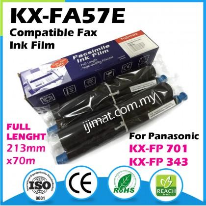 2Rolls Panasonic 57E / KX-FA57E Compatible Fax Ink Film For KX-FP343 / KX-FP701 Printer