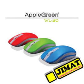 AppleGreen Optical Mouse WL-30 (Wireless) (Red / Blue / Green / Black)