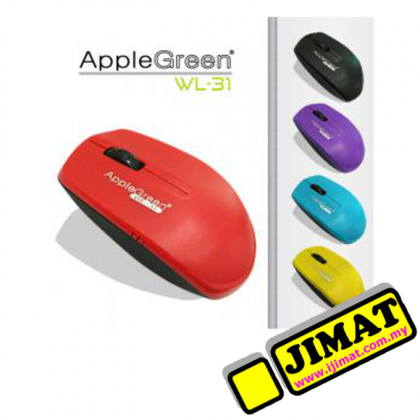 AppleGreen Optical Mouse WL-31 (Wireless) (Black / Blue / Red)