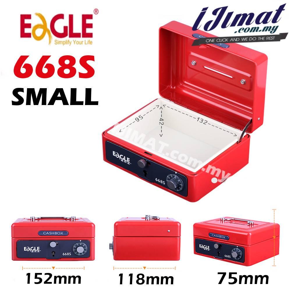 Eagle 668s Small Cash Box Petty Cash Box Key Amp Number