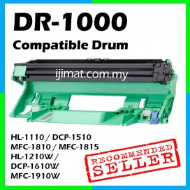 Brother DR1000 / DR 1000 Compatible Drum Cartridge For Brother HL-1110 / DCP-1510 / MFC-1810 / MFC-1815 / HL-1210W / DCP-1610W / MFC-1910W Printer (DRUM ONLY)