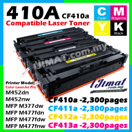 (B/C/Y/M) HP 410A CF410A / CF411A / CF412A / CF413A Compatible Colour Laser Toner Cartridge For HP Colour LaserJet Pro M452dw / M452nw / MFP M477fdw / MFP M477dn / MFP M477fnw / MFP M377dw Printer Ink