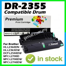Brother DR2355 / DR-2355 / DR-2380 High Quality Compatible Drum Kit For Brother DCP-L2520D / HL-L2540DW / MFC-L2700D / HL-L2700DW / HL-L2740DW / HL-L2320D / HL-L2360DW / HL-L2365DW Printer (DRUM ONLY)