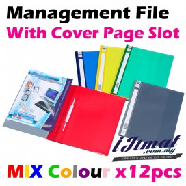 East-File 2807 / 2807A PVC Management File A4 Good Quality (12pcs/pack) With Transparent Cover Page Slot
