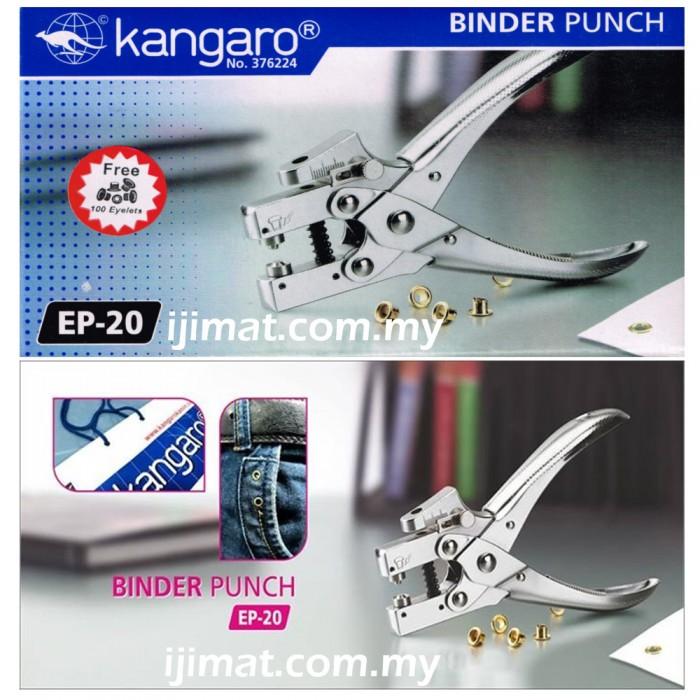 Kangaro EP-20 1 Hole Puncher / Eyelet Punch / Binder Punch