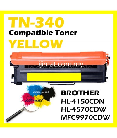 Brother TN340 / TN-340 Compatible Full Set Laser Colour Toner Cartridge TN-340 Black + TN-340 Cyan + TN-340 Magenta + TN-340 Yellow For Brother HL4150CDN / HL4570CDW / MFC9970CDW Printer Toner