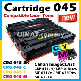 Canon 045 Cartridge 045 CRG045 / CRG 045 Black / CRG 045 Cyan / CRG 045 Yellow / CRG 045 Magenta Compatible Colour Laser Toner Cartridge For Canon LBP611 LBP611cn LBP613 LBP613cdw MF631 MF631Cn MF633 MF633Cdw MF635 MF635Cx Printer Ink