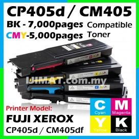 Fuji Xerox CP405 / CP405d / CM405 / CM405df Compatible Color Laser Toner Cartridge Black / Cyan / Magenta / Yellow / Full Set CT202033 CT202034 CT202035 CT202036 CT202022 CT202023 CT202024 CT202025