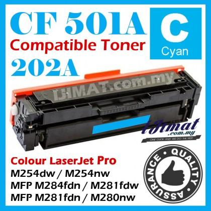(B/C/Y/M) HP 202A CF500 / CF500a / CF501a / CF502a / CF503a Compatible Toner Cartridge For HP Colour LaserJet Pro M254 / M254dw / M254nw / M284 / MFP M284fdn / M281 / MFP M281fdw / MFP M281fdn / M280 / MFP M280nw Printer Ink