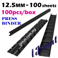 Press Binder Strip 12.5mm / Press Binding Comb (Black) (100pcs/box)