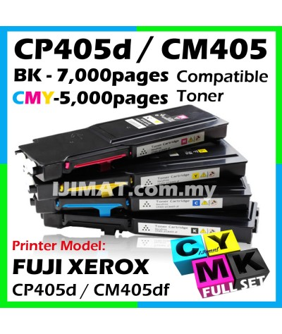 (FULL SET) Fuji Xerox CP405 / CP405d / CM405 / CM405df Compatible Color Laser Toner Cartridge Black / Cyan / Magenta / Yellow / Full Set CT202033 CT202034 CT202035 CT202036 CT202022 CT202023 CT202024 CT202025