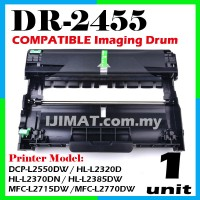 Brother DR2455 / DR-2455 High Quality Compatible Drum Kit For Brother DCP-L2550DW DCP L2550DW / HL-L2320D HL L2320D / HL-L2370DN HL L2370DN / HL-L2385DW HL L2385DW / MFC-L2715DW MFC L2715DW / MFC-L2770DW MFC L2770DW Printer Drum (Toner Not Included)