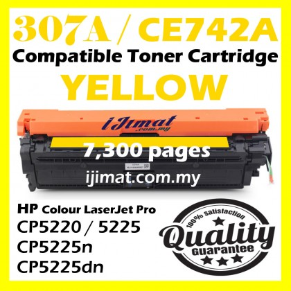 HP 307A / CE740A CE740 / CE741A CE741 / CE742A CE742 / CE743A Ce743 Compatible Colour Laser Toner Black / Cyan / Magenta / Yellow For HP Color LaserJet Pro 5225 CP5225 HP CP5225n CP5225dn CP 5225 CP 5225n CP 5225dn Printer Ink