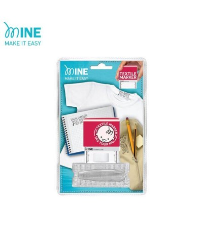 COLOP MINE STAMP TEXTILE MARKER / Mine Stamp Fabric Name Chop / Textile Marker / DIY Clothing Marker