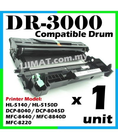 Brother DR3000 / DR-3000 Compatible DRUM Cartridge For HL-5140 HL5140 / HL-5150D HL5150D HL5150 / DCP-8040 DCP8040 / DCP-8045D DCP8045D DCP8045 / MFC-8440 MFC8440 / MFC-8840D MFC8840D MFC8840 / MFC-8220 MFC8220 Printer (Only Drum Toner Not Included)