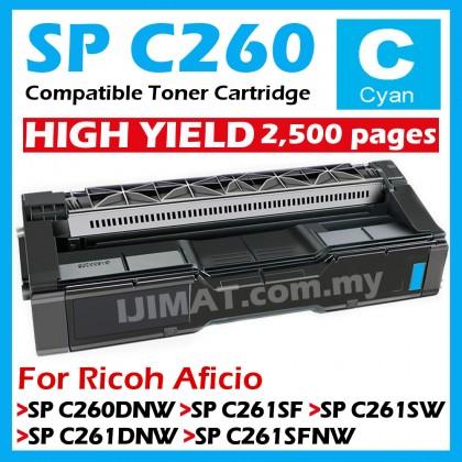 (B/C/M/Y) Black / Cyan / Magenta / Yellow RICOH Aficio Compatible Colour Laser Toner SPC260 SPC261 / SP C260 SP C261 / SPC260DNW SPC261SF SPC261SW SPC261DNW SPC261SFNW / SP C260DNW SP C261SF SP C261SW SP C261DNW SP C261SFNW Color Printer Ink