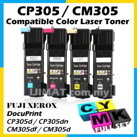 (FULL SET) Fuji Xerox Docuprint CP305 CP 305 / CP305d CP 305d CP305 d / CM305 CM 305 / CM305df CM 305df CM305 df Compatible Colour Laser Toner BLACK CT201632 + CYAN CT201633 + MAGENTA CT201634 + YELLOW CT201632 Printer Ink