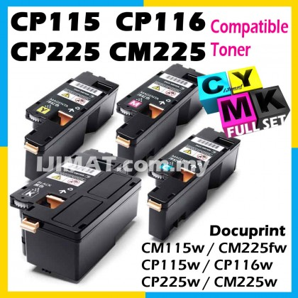 (FULL SET) Fuji Xerox CM115 CM115w CM 115w CM225 CM225fw CM 225fw CP115 CP115w CP 115w CP116 CP116w CP 116w CP225 CP225w CP 225w Compatible Colour Laser Toner Cartridge CT202264 Black + CT202265 Cyan + CT202266 Magenta + CT202267 Yellow Printer Ink