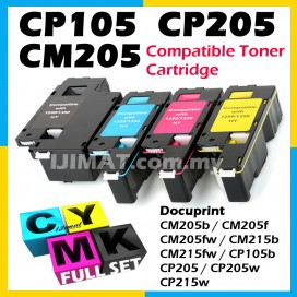(FULL SET) Fuji Xerox CM205b CM205 b CM205fw CM205 fw CM215 CM215b CM215fw CP105b CP105 CP205 CP205w CP215w CP215 Compatible Colour Laser Toner Cartridge CT201591 Black + CT201592 Cyan + CT201593 Magenta + CT201594 Yellow Printer Ink