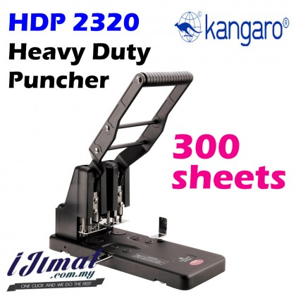 Kangaro HDP-2320 HDP 2320 HDP2320 Two Holes Heavy Duty Punch 300 sheets Thickened Drilling Machine / Super Heavy Duty Puncher